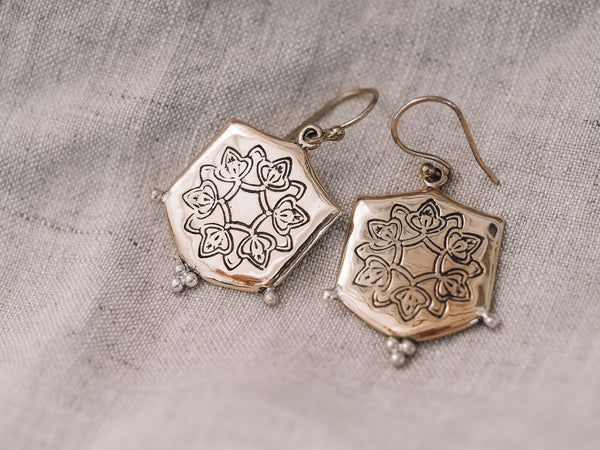 Abundance earrings brass/sterling silver - Celeste Twikler
