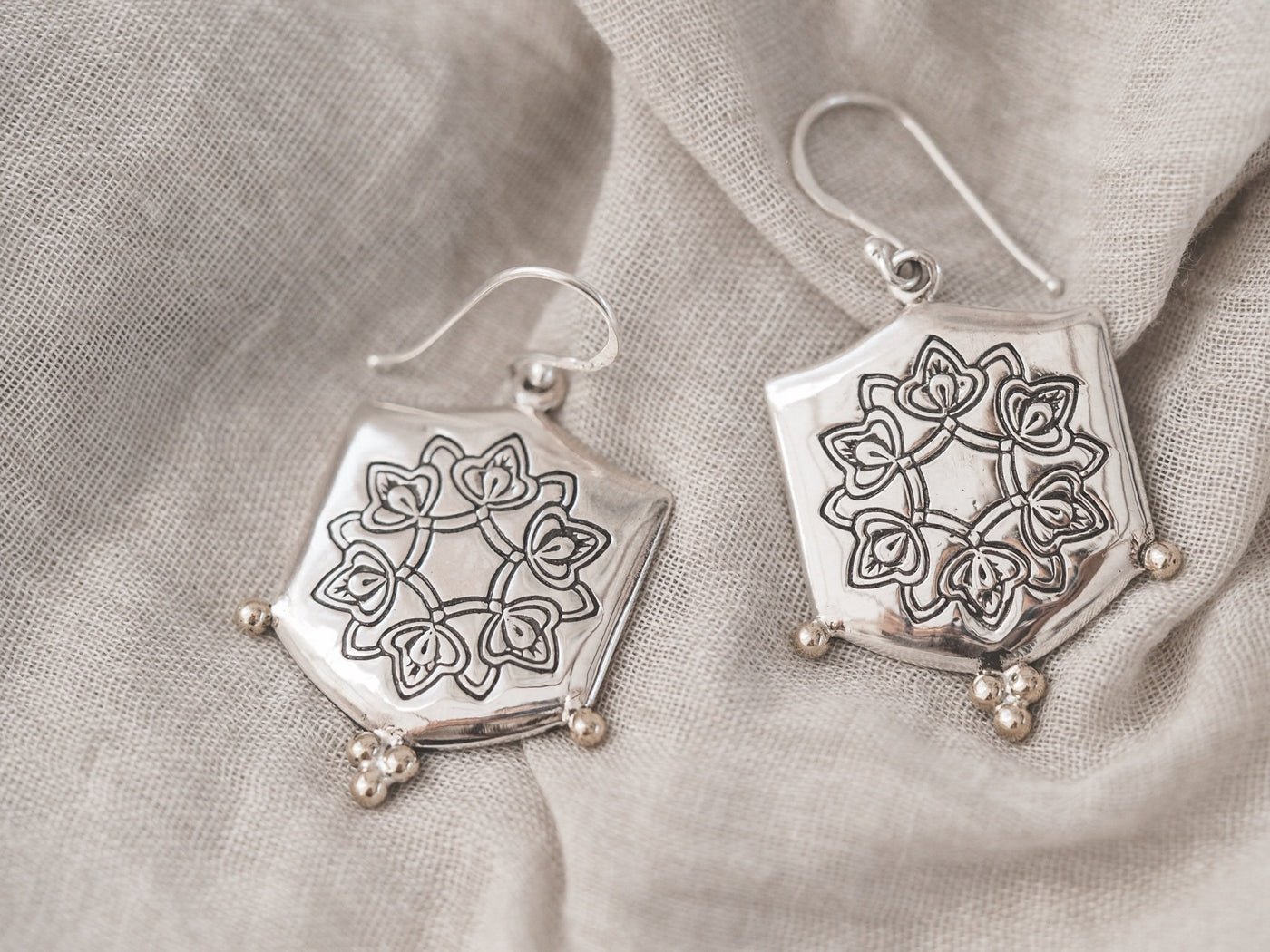 Abundance earrings sterling silver/brass - Celeste Twikler