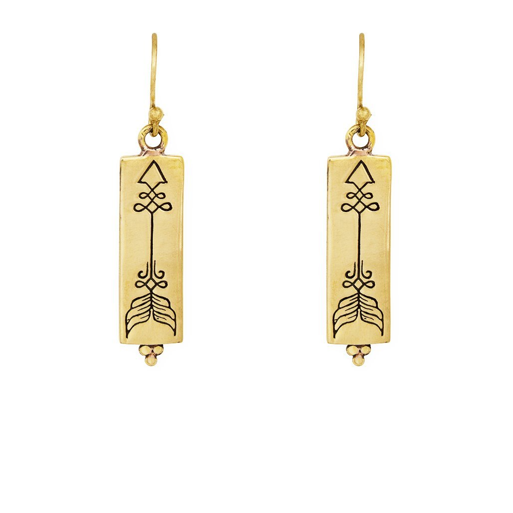 Courage earrings - brass - Celeste Twikler