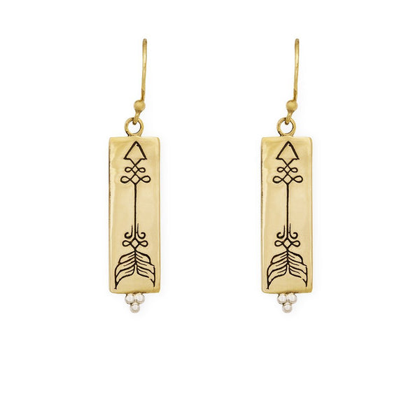 Courage earrings - brass/silver - Celeste Twikler