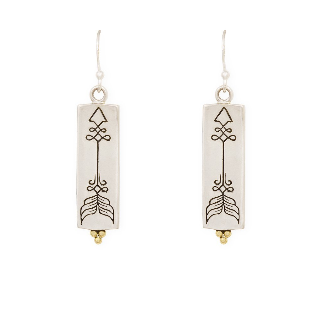 Courage earrings - silver/brass - Celeste Twikler