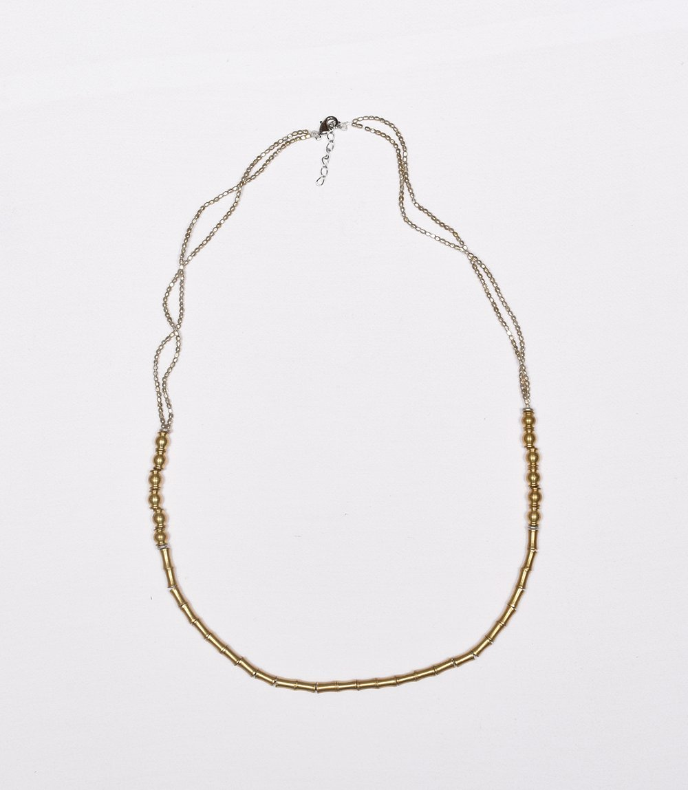 necklace brass - Celeste Twikler