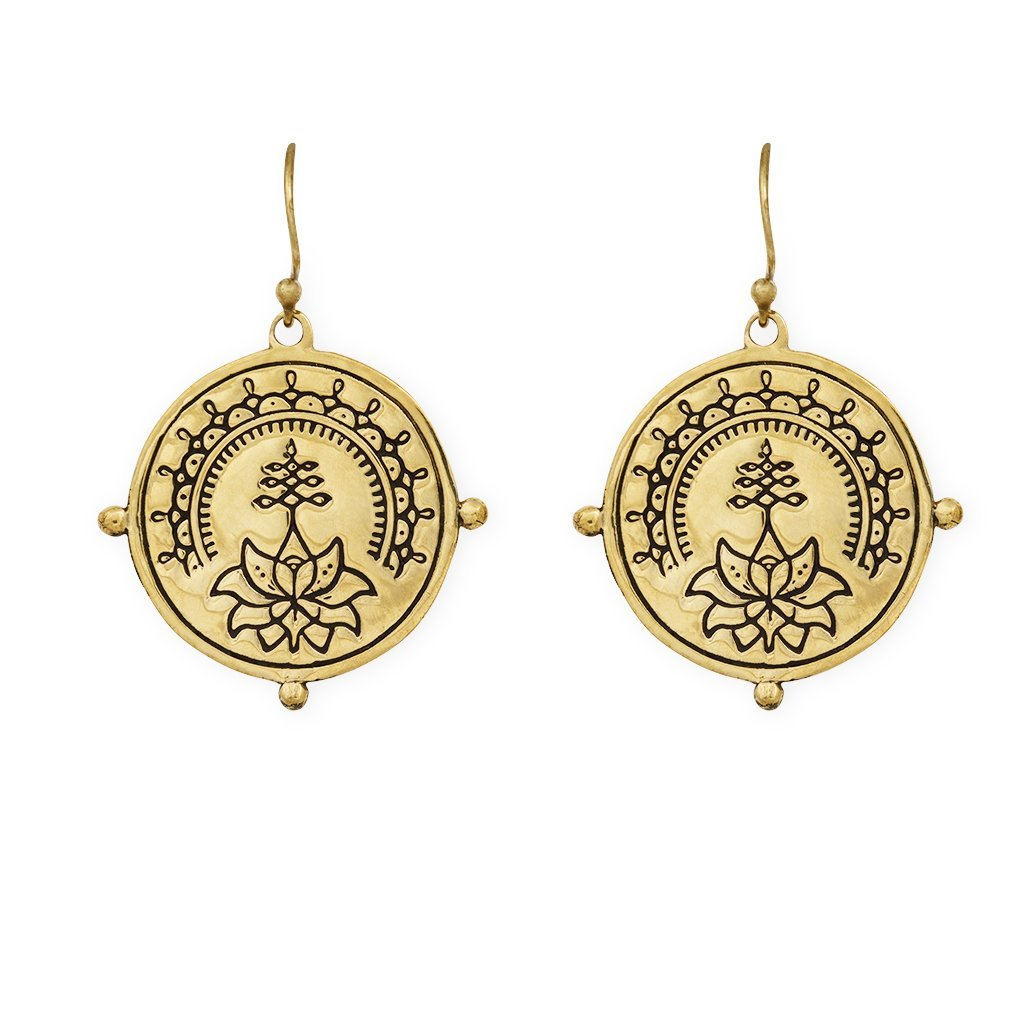 Purity earrings - brass - Celeste Twikler