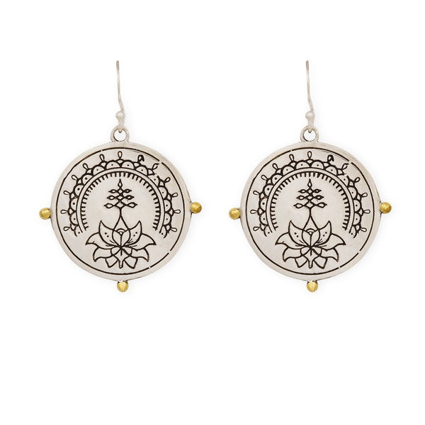 Purity earrings - silver/brass - Celeste Twikler
