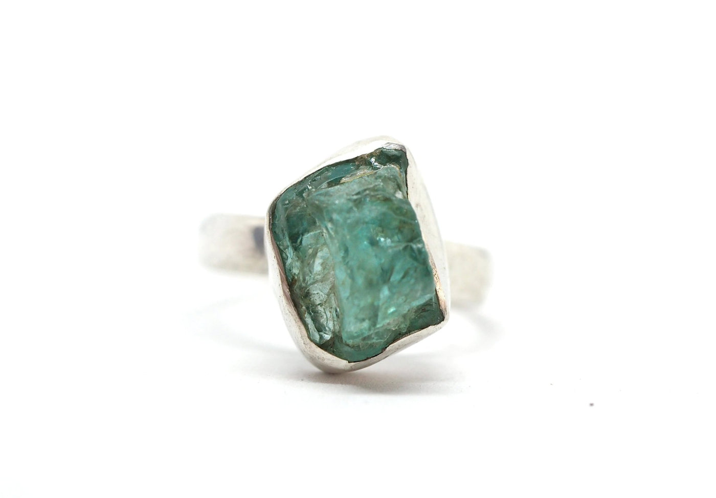 Raw blue Apatite ring. - Celeste Twikler