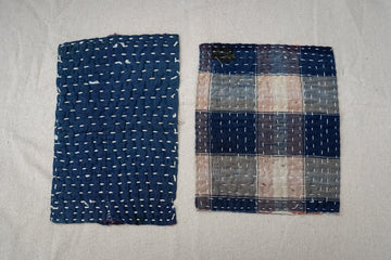 zokin dust cloths, 2, plaid and indigo