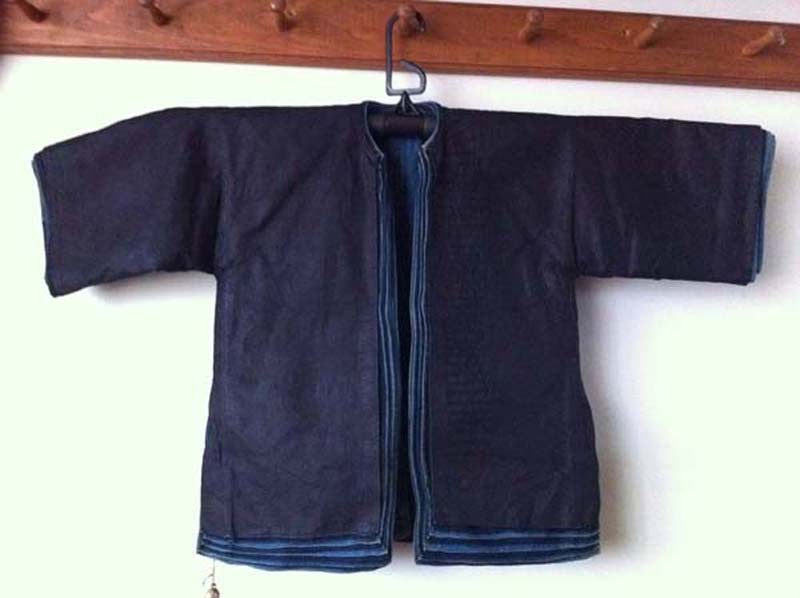 Chinese child's jacket, eleven layers of indigo