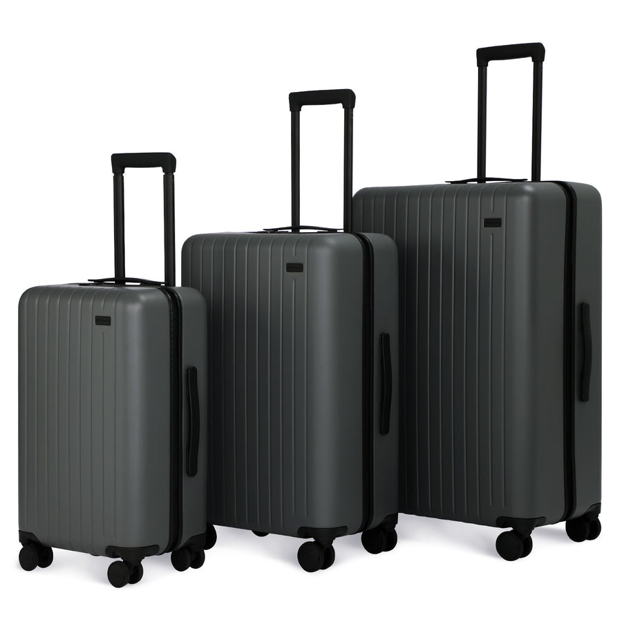 3 Piece Luggage Set Skyline Gray