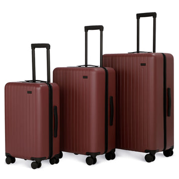 3 Piece Luggage Set Fiery Red
