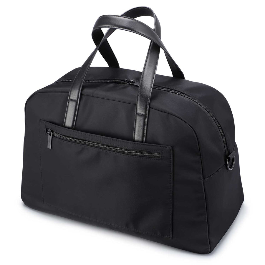 Black Weekender Bag with Back Sleeve