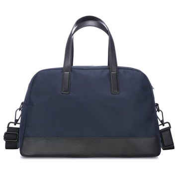 Navy Blue Weekender Bag with Back Sleeve