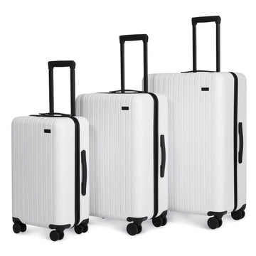 3 Piece Luggage Set Polar White