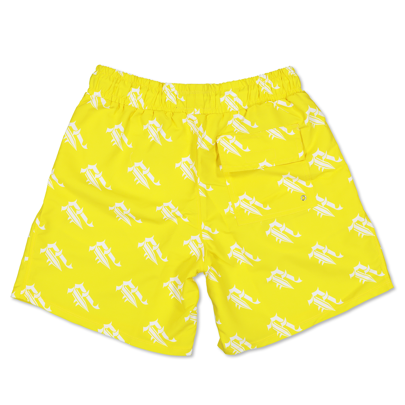 """A"" LOGO SWIM SHORTS (YELLOW)"