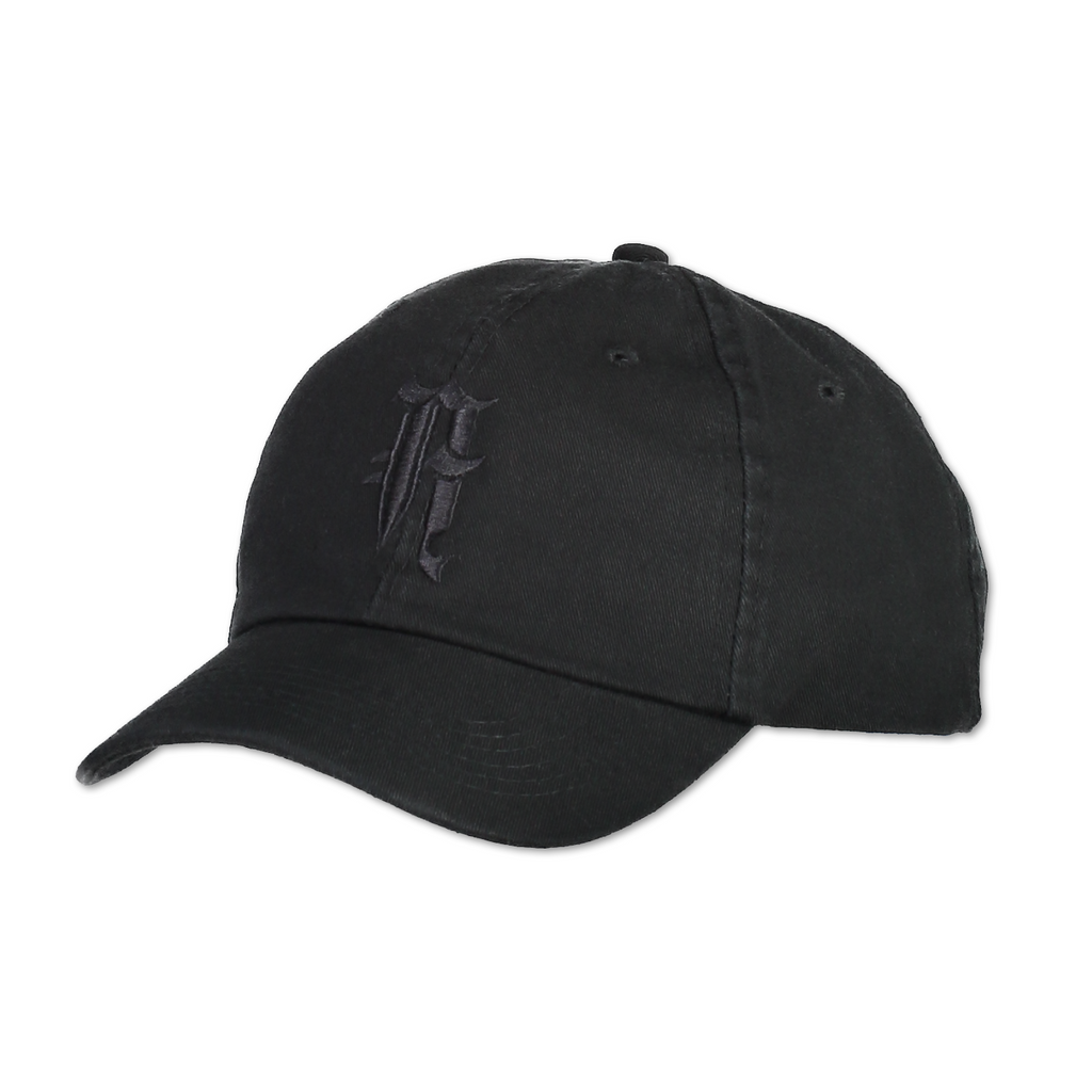 """A"" LOGO HAT (BLACK)"