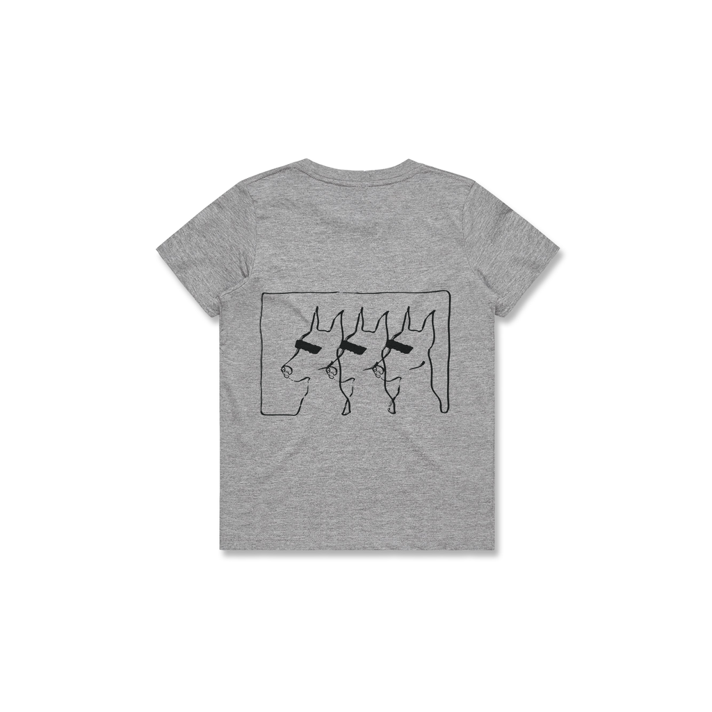 KIDS DOGS TEE (GREY)