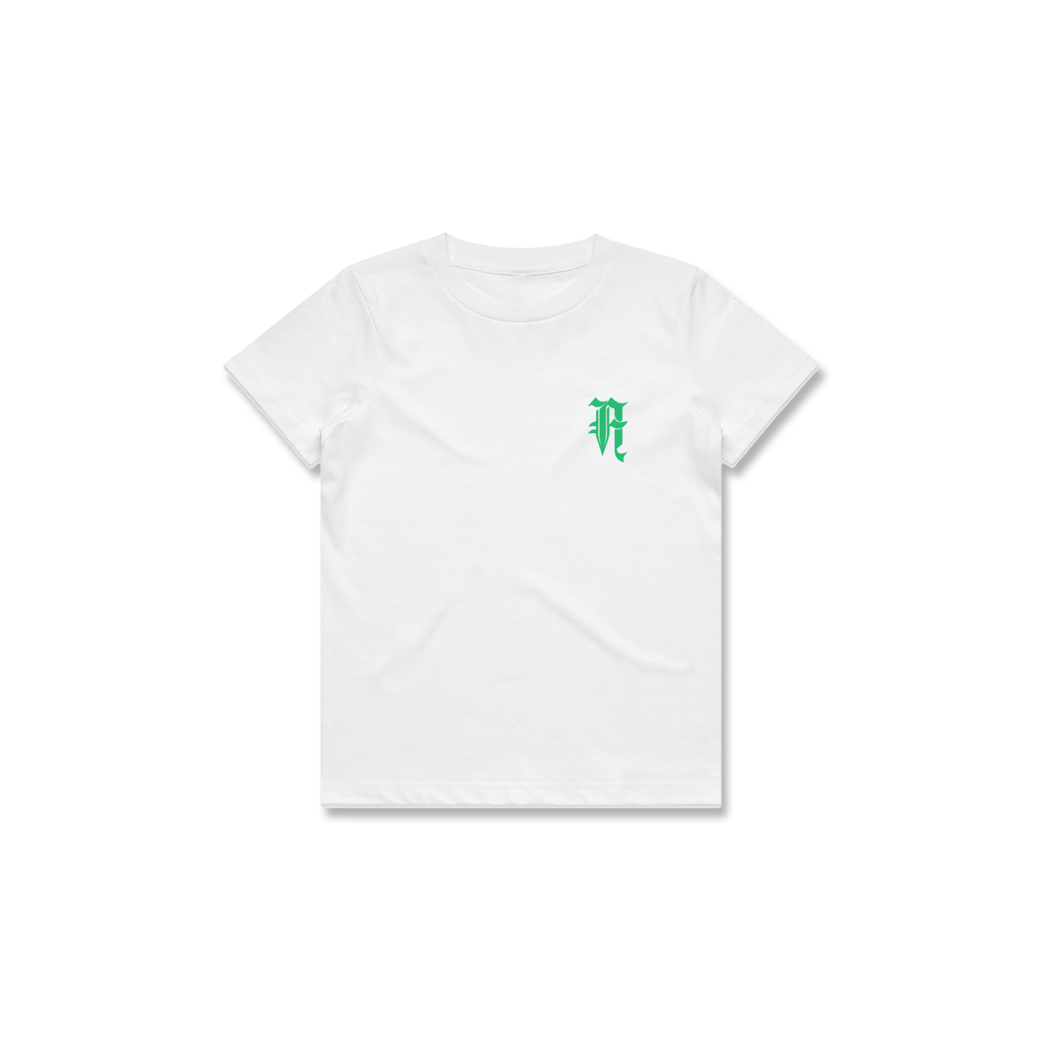 KIDS PLANTS TEE (WHITE + GREEN)