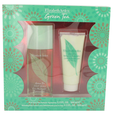 Green Tea By Elizabeth Arden Gift Set -- 3.3 Oz Scent Spray + 3.3 Body Lotion For Women