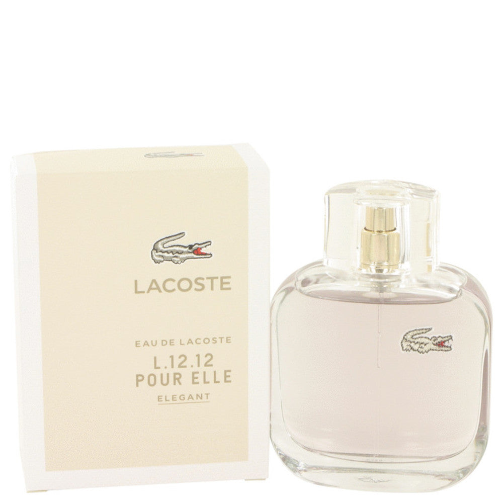 Lacoste Eau De Lacoste L.12.12 Elegant By Lacoste Eau De Toilette Spray 3 Oz For Women