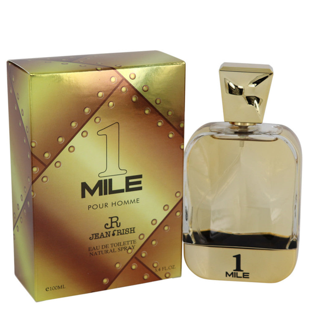 1 Mile Pour Homme By Jean Rish Eau De Toilette Spray 3.4 Oz For Men