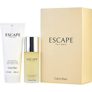 Escape Edt Spray 3.4 Oz and Aftershave Balm 6.7 Oz For Men