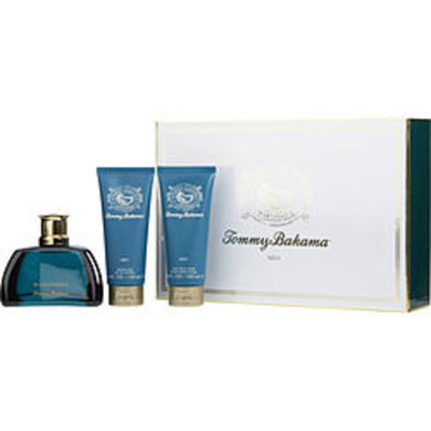 Tommy Bahama Set Sail Martinique Eau De Cologne Spray 3.4 Oz and Aftershave Balm 3.4 Oz and Shower Gel 3.4 Oz For Men
