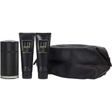Dunhill Icon Elite Eau De Parfum Spray 3.4 Oz and Aftershave Balm 3 Oz and Shower Gel 3 Oz and Pouch For Men