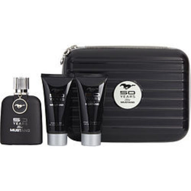 Mustang 50 Years Edt Spray 3.4 Oz and Aftershave Balm 3.4 Oz and Shower Gel 3.4 Oz For Men