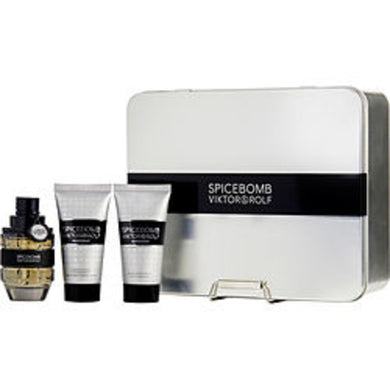 Spicebomb Edt Spray 1.7 Oz and Aftershave Balm 1.7 Oz and Non-foaming Shave Cream 1.7 Oz For Men