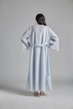 Cotton Vual Baby Blue Robe Set - Reina