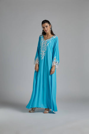 Nightgown - Turquoise and Pearl