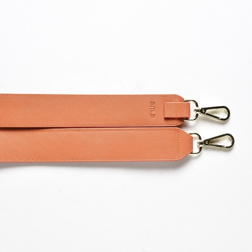 Saffiano Bag Strap in Orange