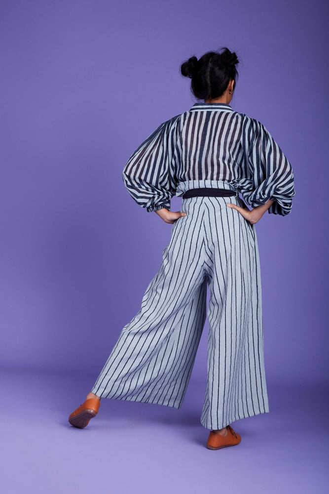 Baha Shirt and Pant Set- SS Blue