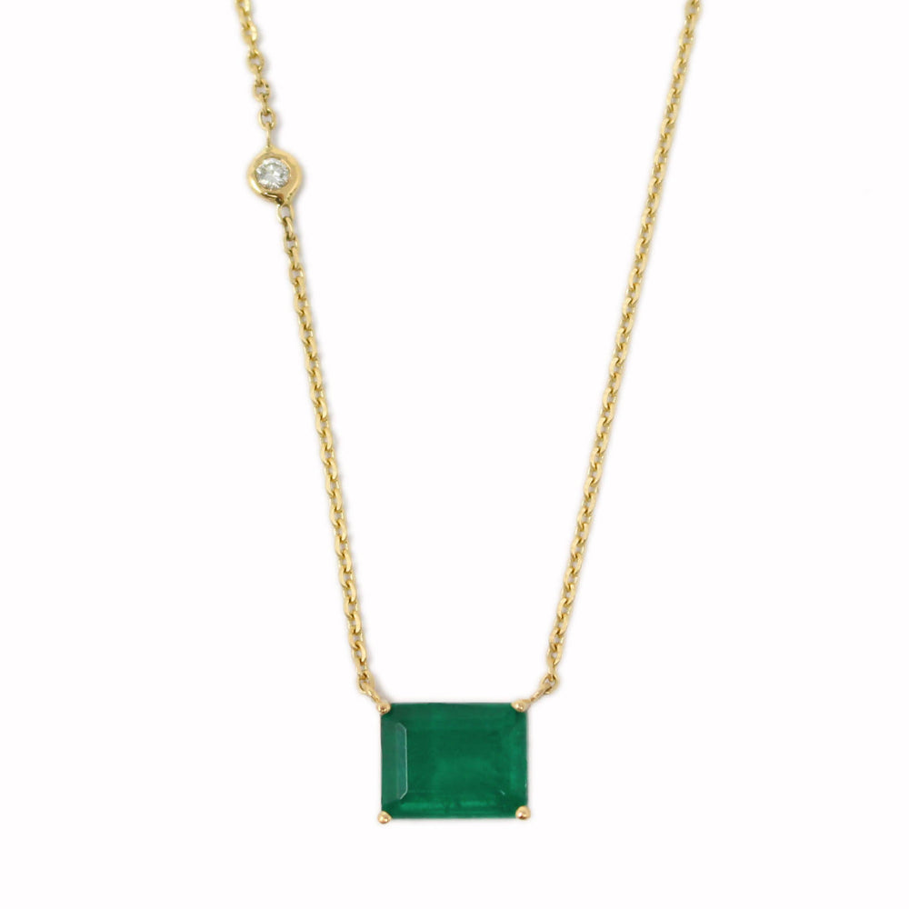 Load image into Gallery viewer, Emerald Pendant - Emerald Cut