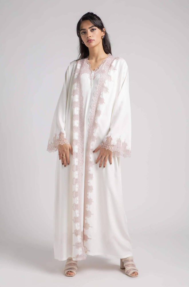 Load image into Gallery viewer, Robe Set - Off White Roja - Powder