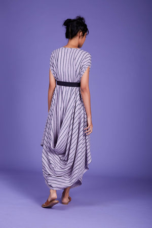 Load image into Gallery viewer, Cowl Dress SS Lavender