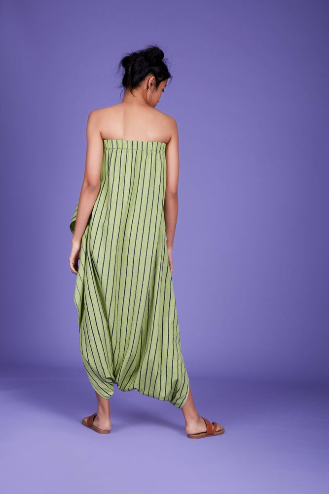 Dhoti Jumpsuit SS Green