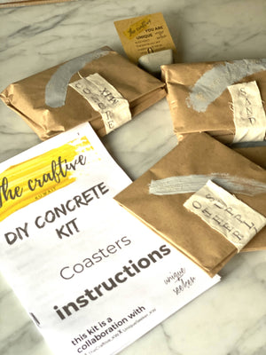 DIY Concrete Candle Holders Kit