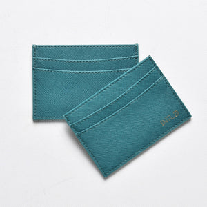 Saffiano Cardholder in Teal