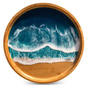 Atlantic Shore Double Wave Large Tray