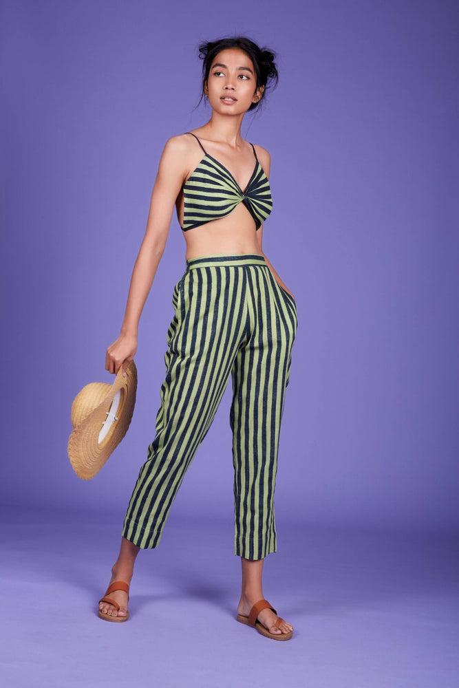 SE Striped Pants SS Green