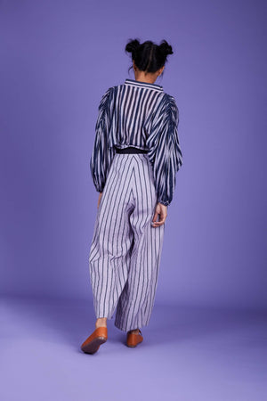 Baha Striped Shirt - SS Lavender