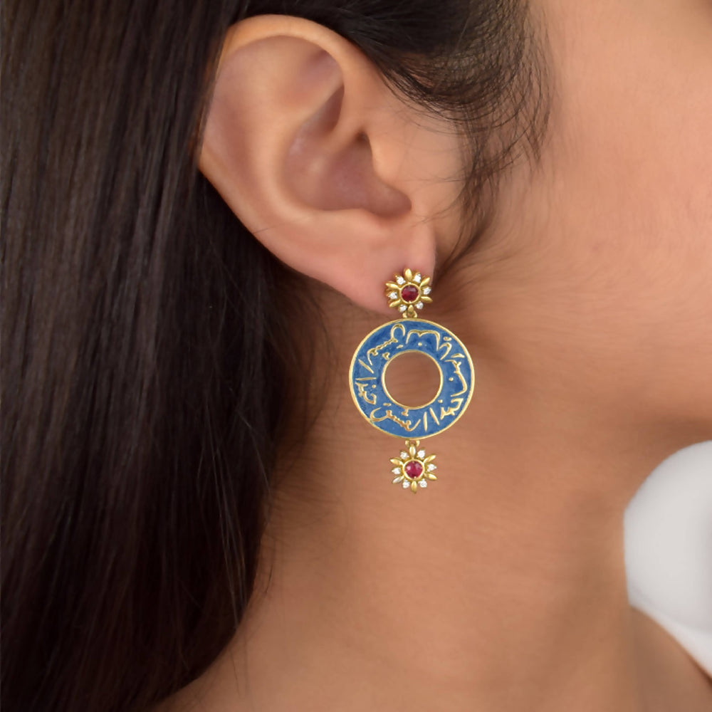ISHQ STUD EARRINGS - BLUE JEANS