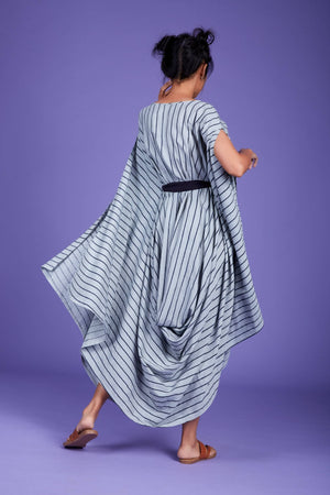 Load image into Gallery viewer, Cowl Dress SS Blue