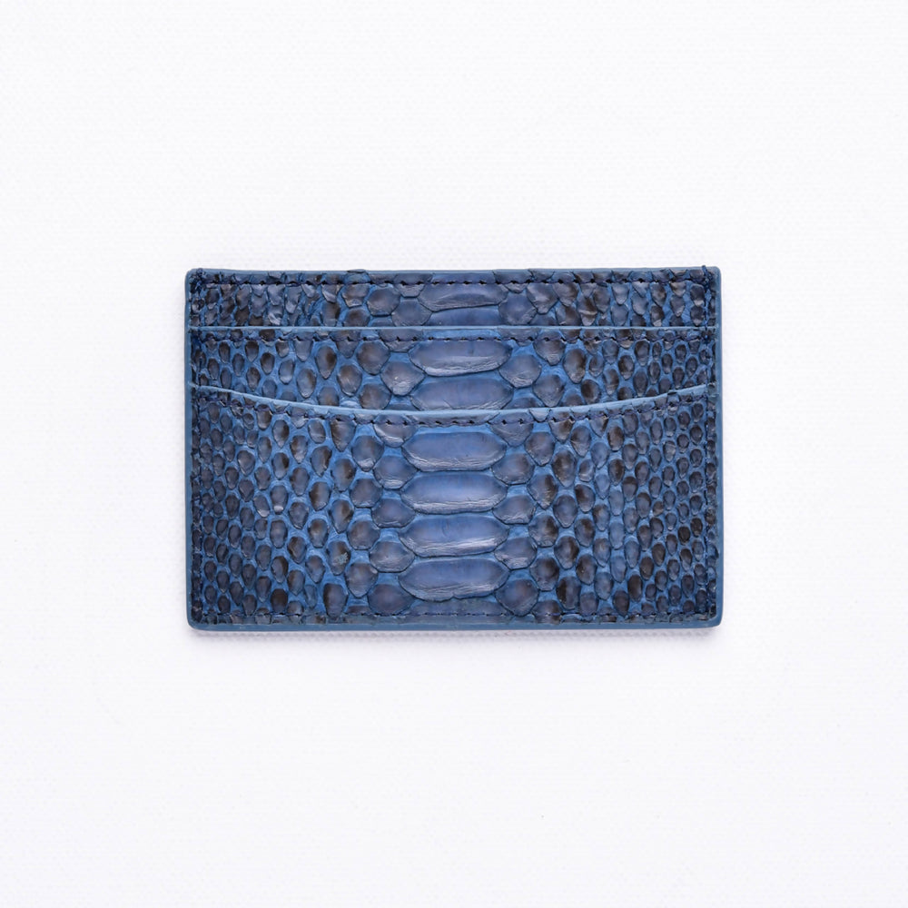 Load image into Gallery viewer, Python Cardholder in Navy Blue