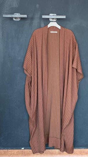 Sleeveless Abaya Striped