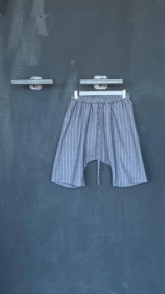 Striped Drawstring Sarouel Shorts S/M