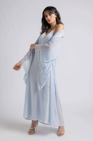 Load image into Gallery viewer, Robe Set - Baby Blue Wavy Soft