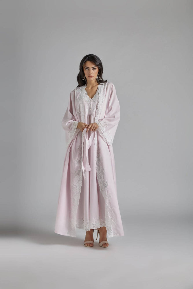 Load image into Gallery viewer, Cotton Vual Baby Pink Robe Set - Reina