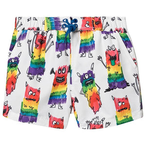 Load image into Gallery viewer, Rainbow Monster SMC Baby Swimshorts