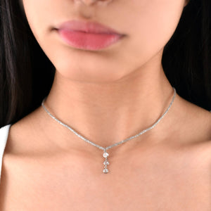 Load image into Gallery viewer, THREE ROUND ROSE CUT DIAMONDS CHOKER